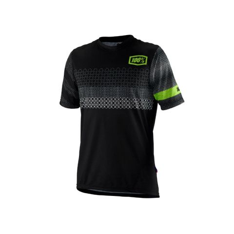 100% Airmatic Jersey Black / Fluo Yellow